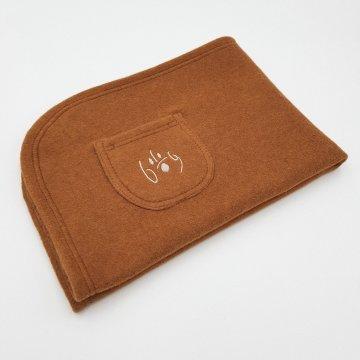 Organic Cuddly Dog Blanket copper brown
