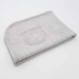 Organic Cuddly Dog Blanket light grey marl