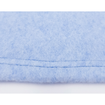Organic Cuddly Dog Blanket light blue marl