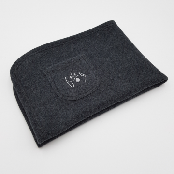 Organic Cuddly Dog Blanket black marl