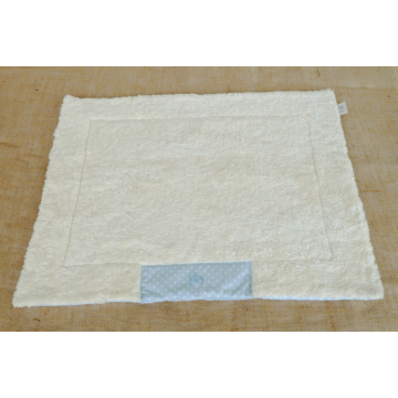 Organic Dog Blanket light blue