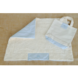 Organic Dog Blanket light blue
