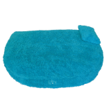 Organic Cuddly Dog Bed turquoise