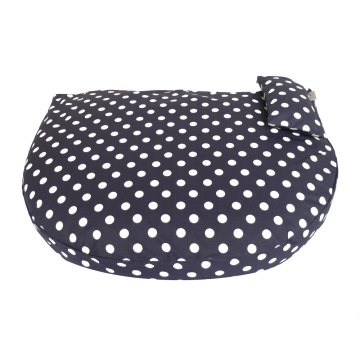 Organic Dog Bed night blue water-repellent
