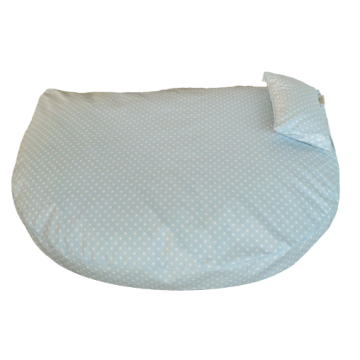Organic Dog Bed light blue water-repellent