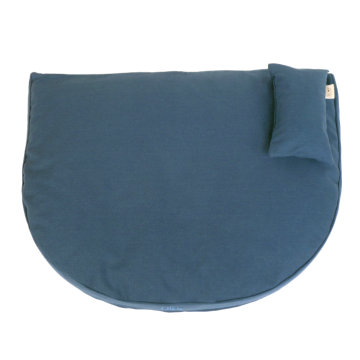 Organic Dog Bed dark blue