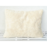 Organic Cuddly Decorative Pillow natural white