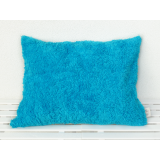Organic Cuddly Decorative Pillow turquoise