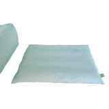Organic Dog Bed Box light blue water-repellent