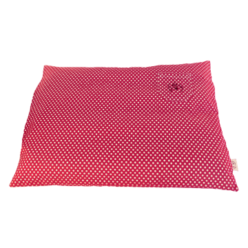 Organic Dog Bed Box pink water-repellent