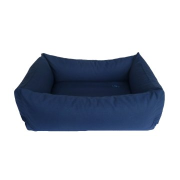 Organic Dog Bed Box dark blue