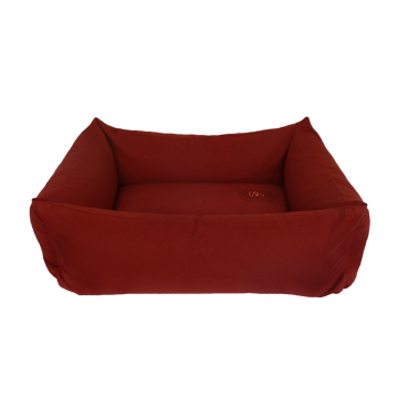 Organic Dog Bed Box bordeaux