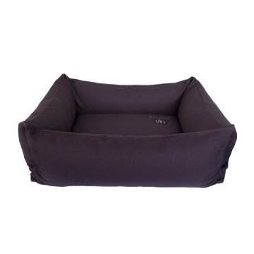 Organic Dog Bed Box grey
