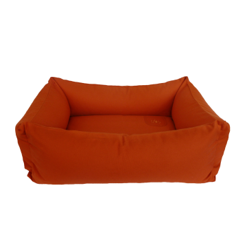 Organic Dog Bed Box orange