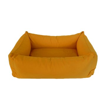 Organic Dog Bed Box ochre