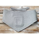 Organic Dog Bandana light grey marl