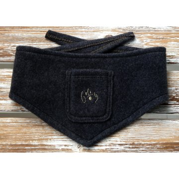 Organic Dog Bandana black marl