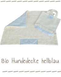 Bio Hundedecke hellblau Dog Filous
